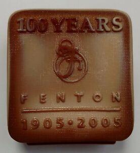Fenton Chocolate Glass Logo 100th Anniversary Lim. Edition 2005 100/300 Signed