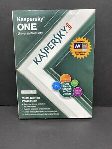 NEW KASPERSKY ONE UNIVERSAL SECURITY 5-DEVICES 1-YR - MAC, PC, Tablet, Android