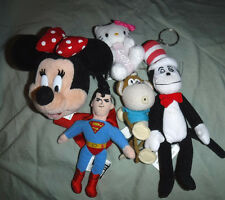 Minnie Mouse Superman Hello Kitty Clips Cat in the Hat Bobby Jack Key Chain Toy