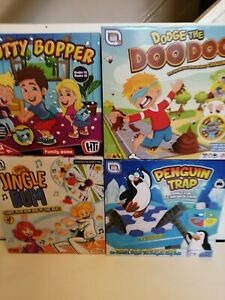 Family Games.Botty Bopper/Dodge the Doo/Jingle Bum/Penquin Trap.Del Guaranteed
