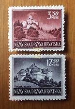 EBS Croatia Hrvatska NDH 1943 Landscapes Michel No 98-99 MHinged*