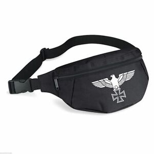 Reichsadler Bauchtasche - Schwarz/Weiss - Gürteltasche Iron Cross Hip Bag Tasche