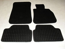 BMW 5 Series F10/F11 2010-13 Fully Tailored Deluxe RUBBER Car Mats in Black.