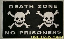 3'x5' Death Zone Jolly Roger Pirate Flag Skull No Prisoners Crossbones Huge 3x5