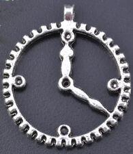 Gear Pendant Steampunk 1-1/4 Inch Watch Clock Altered Art Pendant Lot of 12