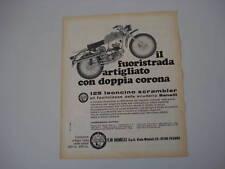 advertising Pubblicità 1969 BENELLI 125 LEONCINO SCRAMB