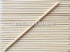 100 Pcs Orange Wood Stick Nail Art Cuticle Pusher Remover #079