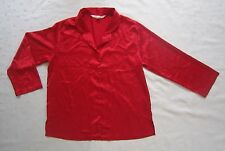 Victoria's Secret Satin Buttons Down Pajama Top ~Red ~Size L / Large ~Worn Once!