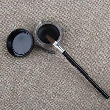Pro Waterproof Eye Liner Eyeliner Shadow Gel Makeup Cosmetic + Brush Black Hot
