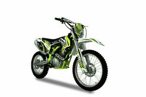 Cross Bike 250ccm 4Takt Pitbike 21/19 Zoll Motocross Vollcross Enduro Neon Grün