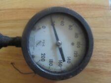 VINTAGE Ashcroft Gauge Duragauge BRONZE TUBE 5 INCH Brass Socket 0-200