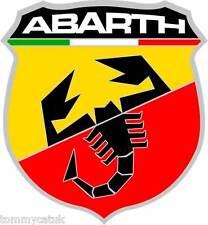 Motorsport STICKERS VOITURES CLASSIQUES ITALIEN ABARTH Autocollants voiture Noir