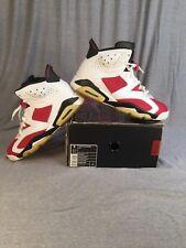 """2007 DMP Nike Air Jordan 6 Retro VI """"Carmine"""" White/Carmine Red 322719-161 SZ 9"""