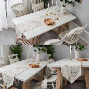 Bee Flower Pattern Table Runner Tablecloth Covers Dinner Kitchen Shower Decor
