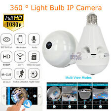 1080P P2P E27 LED Bulb Light Wireless IP Camera WiFi FishEye Panoramic CCTV Cam