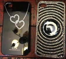 Two Iphone 4/4S covers Swarovski Crystal and Face brads  New