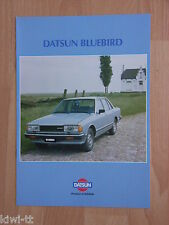 Datsun Bluebird Sedan (1.6, 1.8, 2.0) + Wagon (2.0) Prospekt / Brochure, B (NL)
