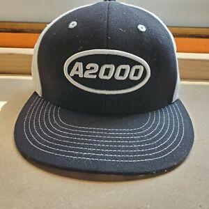 Wilson A2000 Black and white Patriotic Snapback Hat Baseball Cap
