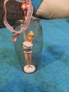 disney tinkerbell with rose bauble rose gold christmas decor rare & hard to find
