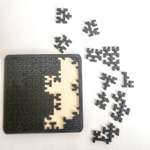 NEW - Challenging Hilbert Fractal Wooden Puzzle