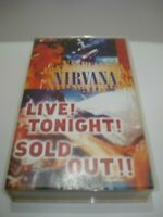 NIRVANA LIVE! TONIGHT! SOLD OUT!! VHS VIDEO TAPE PAL FREE POSTAGE