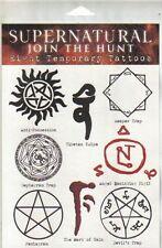 Supernatural TV Series Set of 8 Temporary Runes Tattoos, NEW SEALED
