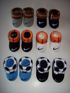 Nike Crib Shoes Booties Socks Boy Girl Swoosh Soccer Football Basketball 0-6 Mo