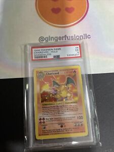 1999 pokemon base set shadowless charizard psa 5