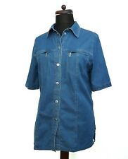BASLER Denim Blue Button Up Shirt  Embroidered Detail With Swarovski Studs 12