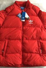 ADIDAS DOWN FILL BOMBER JACKET FULL ZIP JACKET COAT BRAND NEW WITH TAGS LARGE