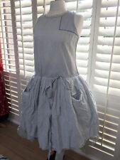 Ewa I Walla WRAP Dress checked kitchen check plaid size SMALL S