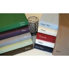Cozy Bedding Sheet Set 4 PCs OR 6 PCs Egyptian Cotton All US Size Solid Colors