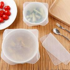 Reusable Silicone Wrap Seal Food Fresh Keeping Wrap Lid Cover Stretch Vacuum