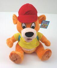 "Traveling Bear Kids 12"" Orange with Backpack Stuffed Animal Toy New"