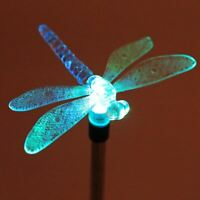 Solar Power Bird Butterfly Dragonfly LED Light Lamp Garden Path Lawn Decor Fashi
