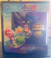Super Mario Galaxy 2 Mini Figurine Collection 2pc Set Mario & Bee New in Box