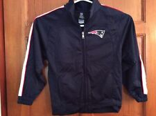 Reebok NFL Patriots Youth SZ 7 Track Jacket Navy Blue Embroidered