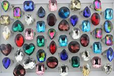 Wholesale Lots 30pcs Fashion Women Jewelry Oversize Mixed Glass Ring Party Gifts