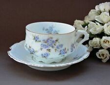 Lovely Tea cup & saucer, H. Ohme Silesia, Germany Prussia style