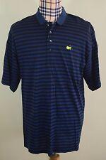 Augusta National Mens Blue Black Masters Golf Shirt Large