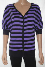 Striped Cotton V Neck Other Women's Tops