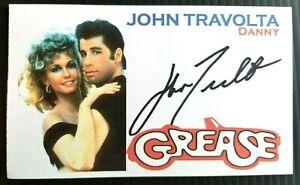 """JOHN TRAVOLTA """"GREASE"""" """"DANNY"""" AUTOGRAPHED 3X5 INDEX CARD"""