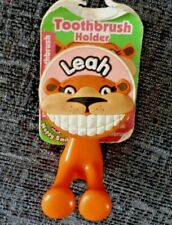 Leah Toothbrush Holder Wall Suction Cup Girl Child Personalised