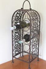 ON SALE!!  Antique Style Decorative Metal Framed Wine Rack for 9 Bottles