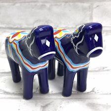 Salt & Pepper Shakers Blue Dala Horse Dalahäst Swedish Kitchen Home Decor Sweden