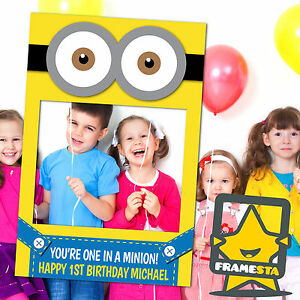 Minion Party Photo Booth Props (60 x 90 cm) Minion Birthday Party Decorations