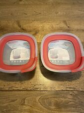 Set Of 2 Rubbermaid Food Storage Container With Easy Find Lid, 11.5 cup, Glass