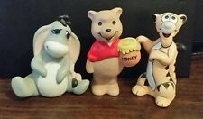 Winnie the pooh and gang ceramic figurines