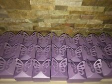 """24 BUTTERFLY TOP BOXES about 2.5"""" x 2.5"""" party favor wedding candy gift jewelry"""