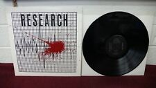 RESEARCH Self Titled LP No Mountain Records '85 Texas Rock Private Press marbles